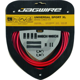 Jagwire Sport XL Universal Brake Cable Set for Shimano/SRAM red